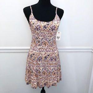 NWT Billabong Floral Paisley Skater Dress